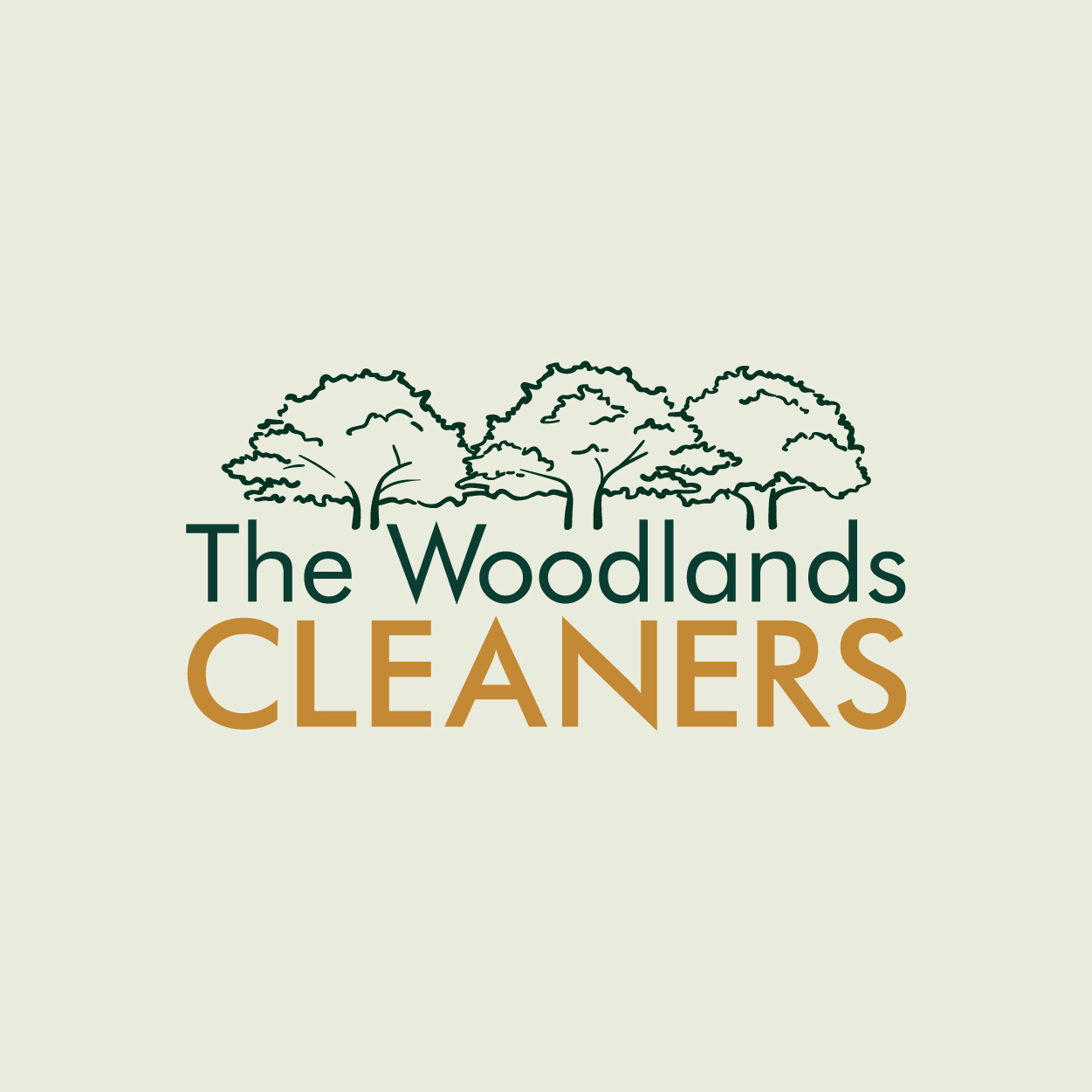 The Woodlands Cleaners Logo square cut Social-05