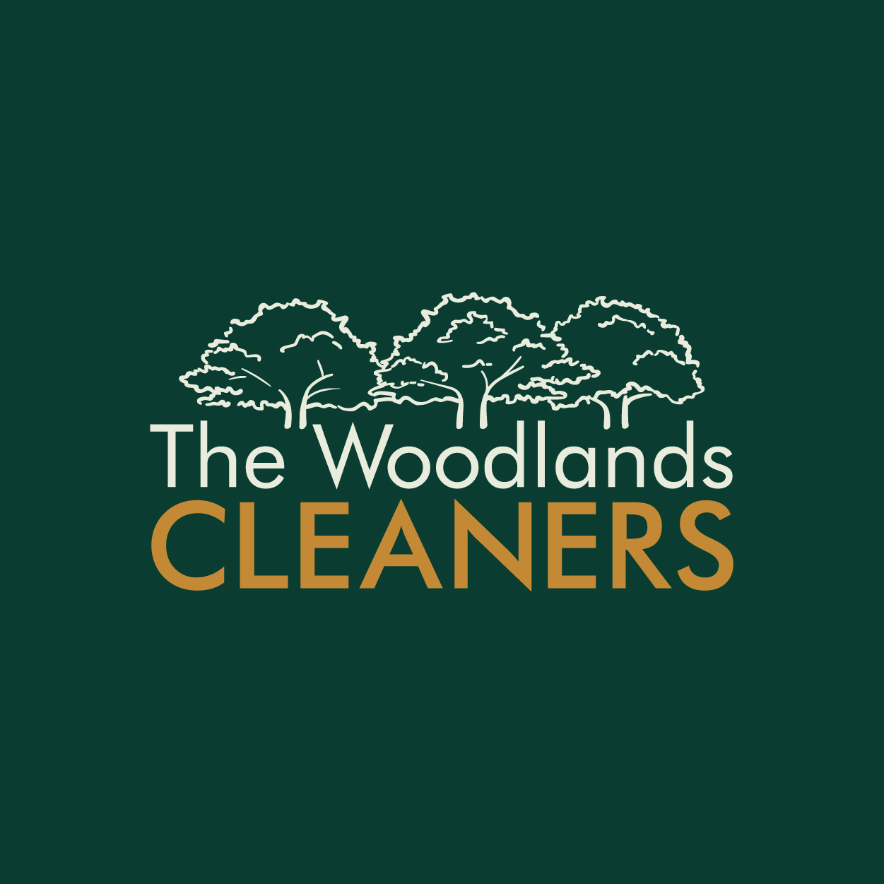 The Woodlands Cleaners Logo square cut Social-06