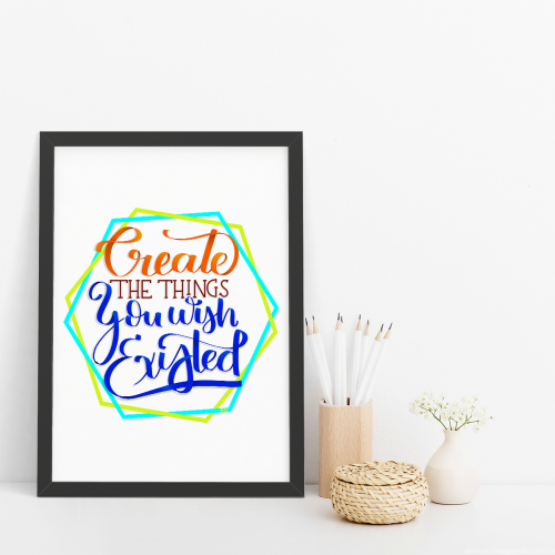 Create the things you wish existed Andrea Garrido V framed print