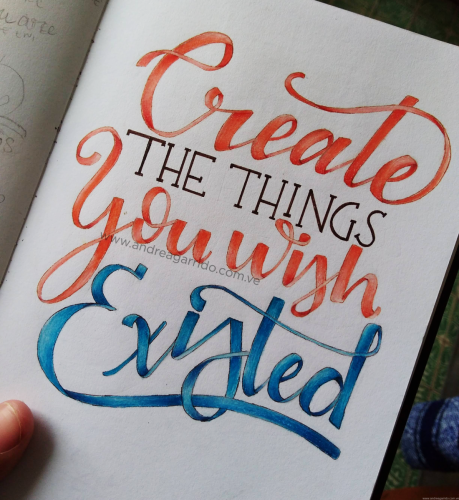 Create the things you wish existed Andrea Garrido V original ribbon lettering