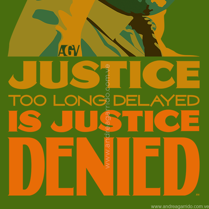 Justice denied Martin Luther King Jr vector Andrea Garrido V Lettering quote green sqWeb