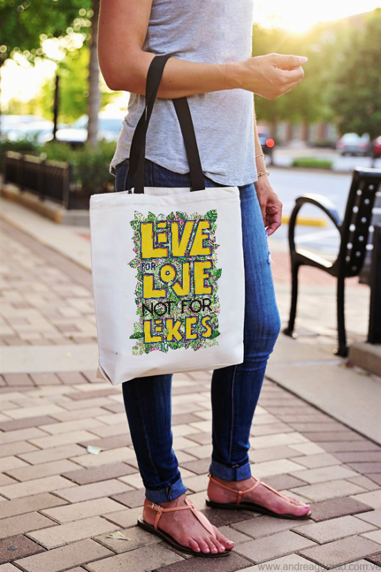 Tote bag bolso live for love not for likes